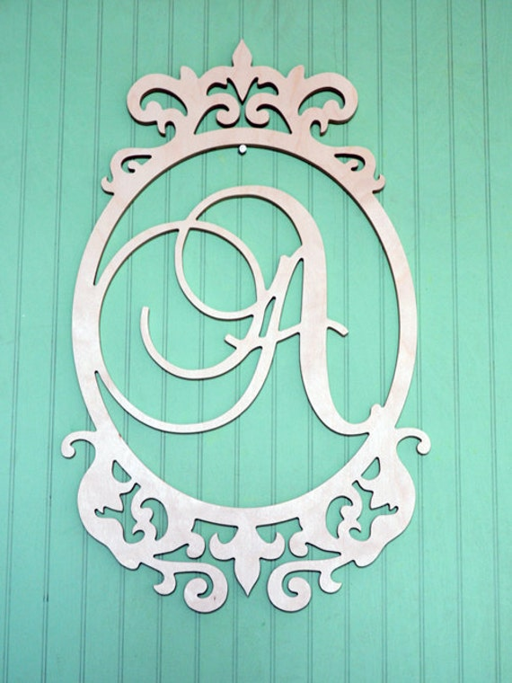Arte de pared de madera monograma letras iniciales de madera | Etsy