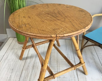 Vintage 60's pedestal table