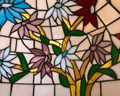 20 quot Beautiful Multi Colored Tiffany Style Stained Slag Glass Ceiling Shade Light Fixture