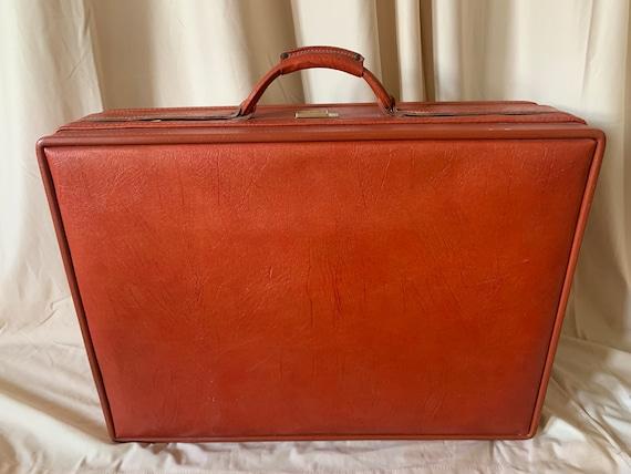 Vintage 1970s Hartmann Suitcase, Orange