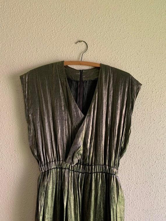 Vintage Metallic Jumpsuit, Size M/L, 80s
