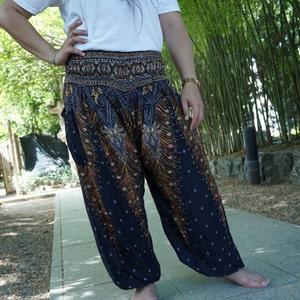 Elephant pants hippie pants harem pants hobo pants in blue XXL PLUS SIZE