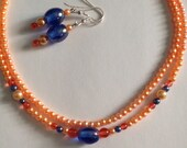 Orange Pearl Choker-Neckl...