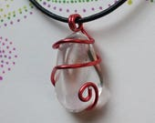 Clear Quartz Wire Wrap Pe...