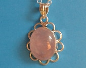 Rose Quartz Pendant Neckl...