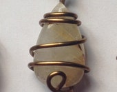 Brass Wire-Wrapped Golden...