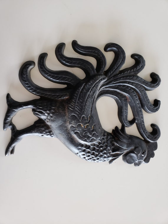 Cast Iron Rooster Wall Hanging Etsy