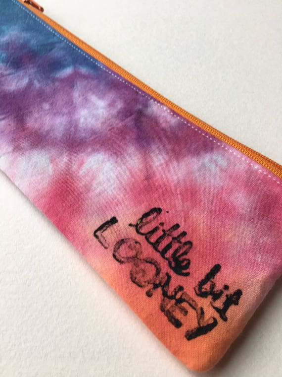 ice dyed stocking stuffer OOAK one of a kind gift gifts under 25 Rainbow hand dyed wallet tie dye clutch wallet