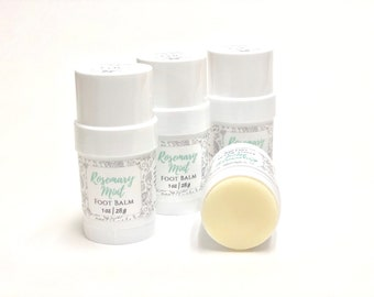 Foot Balm | Rosemary + Mint | Phthalate and Paraben Free | The Graceful Rabbit