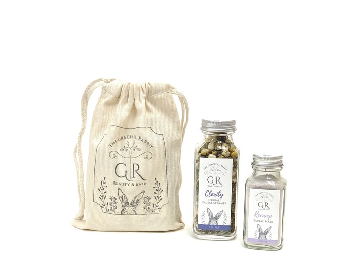 Clarity Herbal Facial Steamer and Revamp Clay Facial Mask Set| The Graceful Rabbit