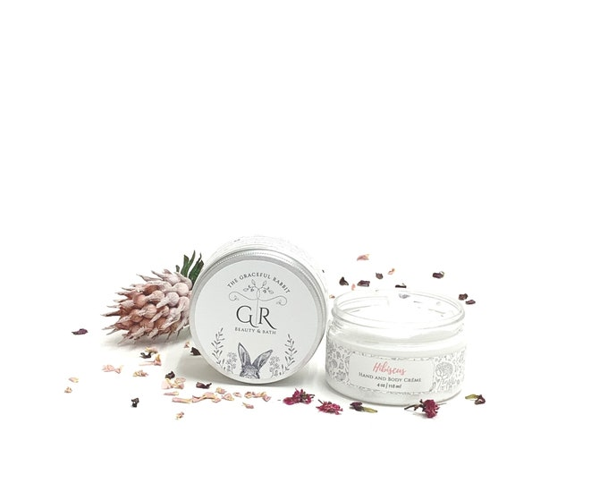 HIBISCUS  Goat Milk Hand + Body Lotion | Phthalate and Paraben Free | The Graceful Rabbit