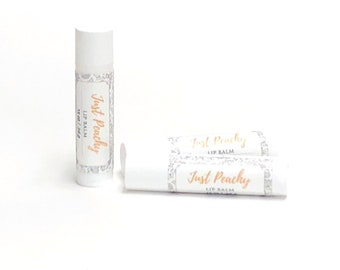 Just Peachy | Lip Balm | phthalate and paraben free| The Graceful Rabbit
