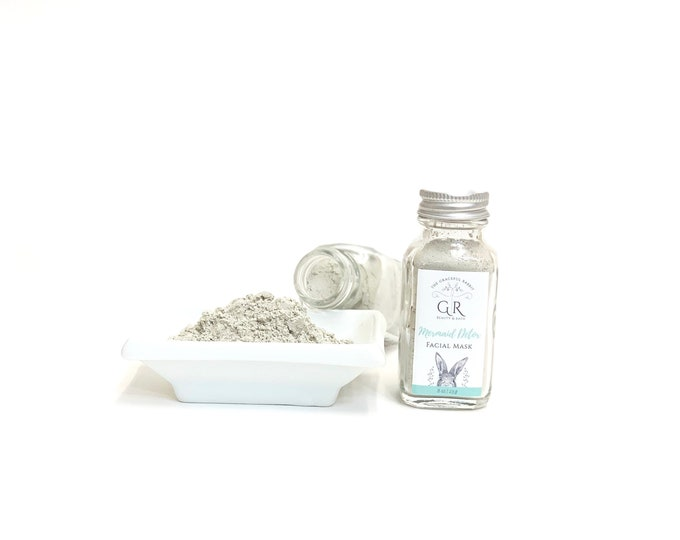 MERMAID for Acne Oily Skin | Clay Facial Skincare Mask | Paraben - Cruelty Free | The Graceful Rabbit