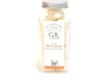 Blood Orange | exfoliating body sugar cubes |phthalates - detergent and paraben Free | The Graceful Rabbit