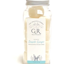 SEASIDE ESCAPE | exfoliating body sugar cubes | phthalates - detergent and paraben Free | The Graceful Rabbit