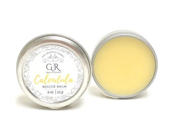 CALENDULA RESCUE BALM | all natural ingredients  phthalates - paraben Free | The Graceful Rabbit