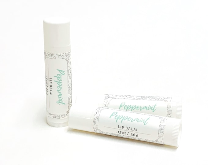 Peppermint Lip Balm | phthalate and paraben free| The Graceful Rabbit