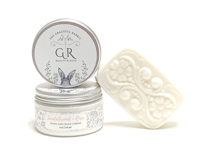 GIFT SET   Hand and Body Creme' with Soap  Choose your Scent  Paraben - Phthalate and Cruelty Free    The Graceful Rabbit