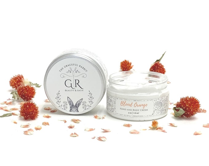 Blood Orange | Hand and Body Creme | made with goat milk | Paraben - Phthalate and Cruelty Free  | The Graceful Rabbit
