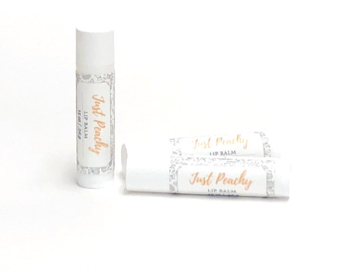 Just Peachy   Lip Balm   phthalate and paraben free  The Graceful Rabbit