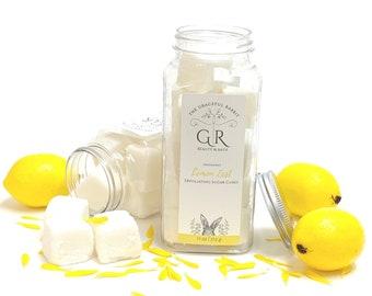 LEMON ZEST   exfoliating body sugar cubes   phthalates - detergent and paraben Free   The Graceful Rabbit