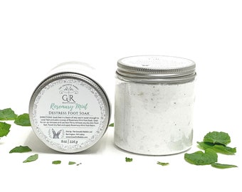 Foot Soak   Rosemary Mint  Phthalate and Paraben Free  The Graceful Rabbit