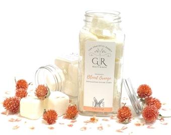Blood Orange   exfoliating body sugar cubes  phthalates - detergent and paraben Free   The Graceful Rabbit