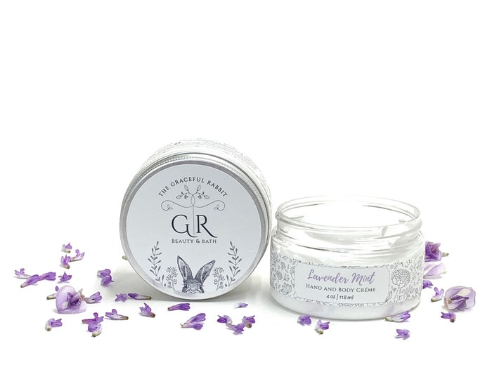 Lavender + Mint Lotion Hand and Body Creme with Goat Milk