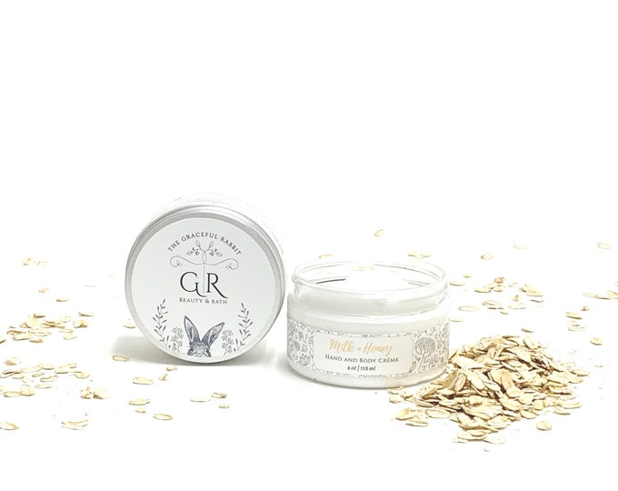 MILK + HONEY | hand and body creme' | made with goat milk | Paraben - Phthalate and Cruelty Free  | The Graceful Rabbit