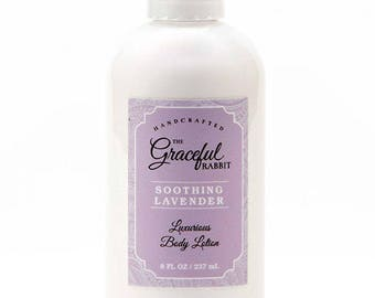 LAVENDER   Hand and Body Lotion made with Goat Milk * Paraben and Cruelty Free - The Graceful Rabbit