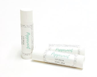 Peppermint Lip Balm   phthalate and paraben free  The Graceful Rabbit