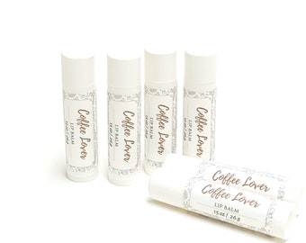 Coffee Lover   Lip Balm   phthalate and paraben free  The Graceful Rabbit