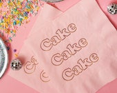 Cake Foil Napkins - Cotton Candy Pink Paper Napkins - Copper Metallic Foil - wedding baby shower birthday party valentine galentine's