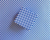 Blue Checker Holiday Gift Wrap - Winter Wrapping Paper - Christmas cobalt checkerboard checked hanukkah gingham grid 90s modern 80s backdrop