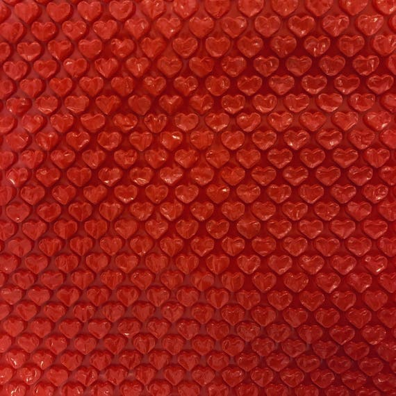 Red Heart Bubble Wrap Valentine Gift Wrap Kawaii Packaging Etsy