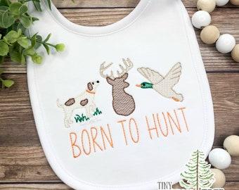 Gender Neutral Bib Woodlands Baby Fawn Deer Baby Bib Boho Bib Bandana Bib Dribble Bib Baby Shower Gift