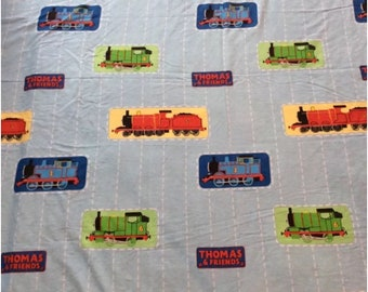 Thomas And Friends Full Double Flat Sheet Fabric Cutters 78x92 Percy James Train