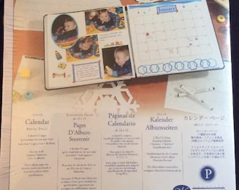 """Creative Memories 12x12 Calendar Refill Pages 6 Sheets Printed Grid 12"""" 2004 New"""