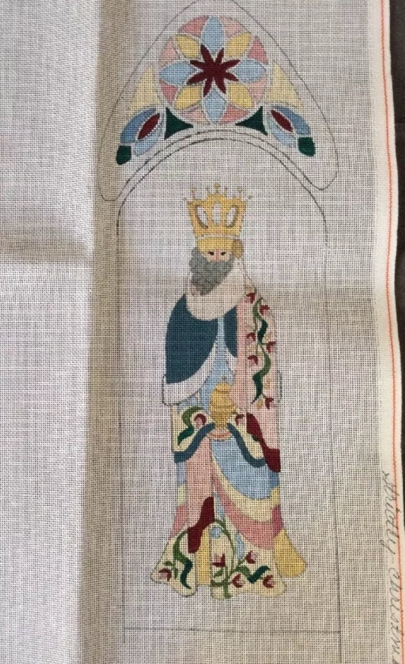 strictly christmas needlepoint canvas 3 kings wisemen arch panels windows orient - Strictly Christmas Needlepoint