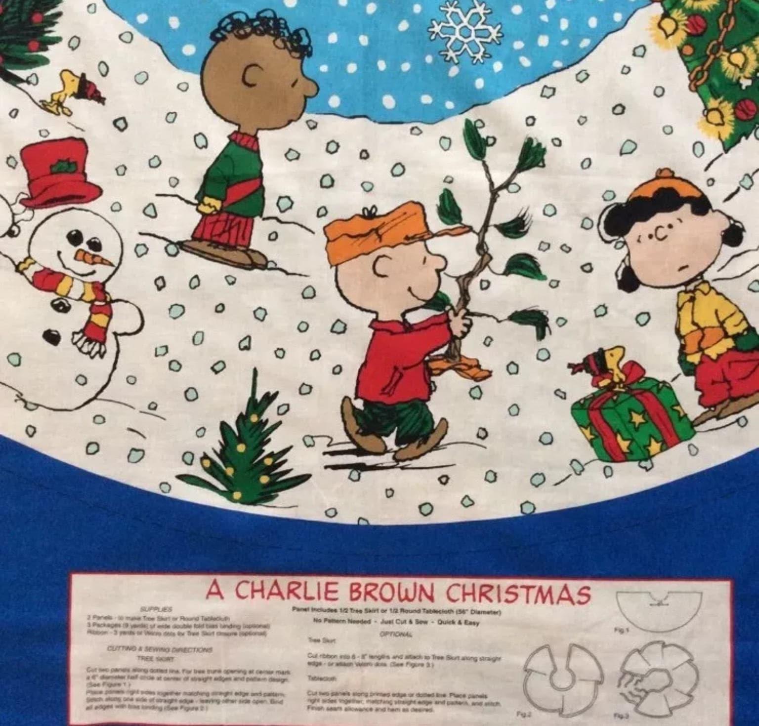 Charlie Brown Erdnüsse Concord Stoff Panel Weihnachtsbaum Rock