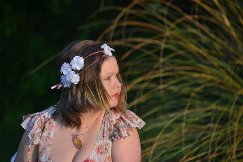 On the cloud Floral Wreath flower headband fairy summer wreath hair crown wedding wreath bride hair accessories fantasy romantic rustic
