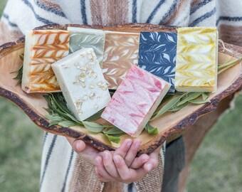 All Natural Soap, Handmade Soap, Gift Box, 3 Soap Bars Set