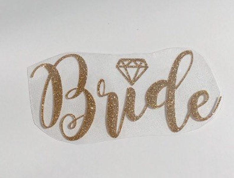 Bride Iron on Transfer Wedding Iron On Transfer Bride Tribe Transfer for Shirt Bride Squad Iron on