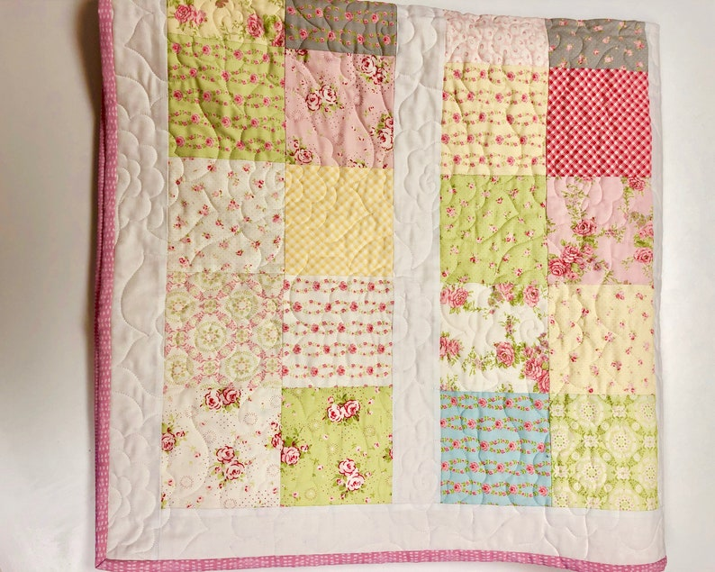 Modern Floral Quilt Baby Toddler Crib