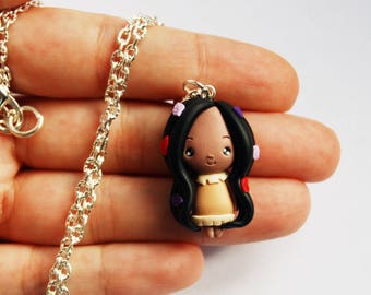 Outlet! Meeting! Pocahontas Necklace in Fimo
