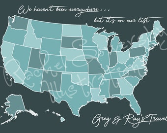 United States Travel Map - Digital Download