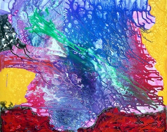 Spring I - original acrylic on canvas painting