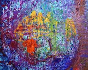 Sea creature - original artwork acrylic on canvas painting