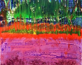 Spring II - original acrylic on canvas painting