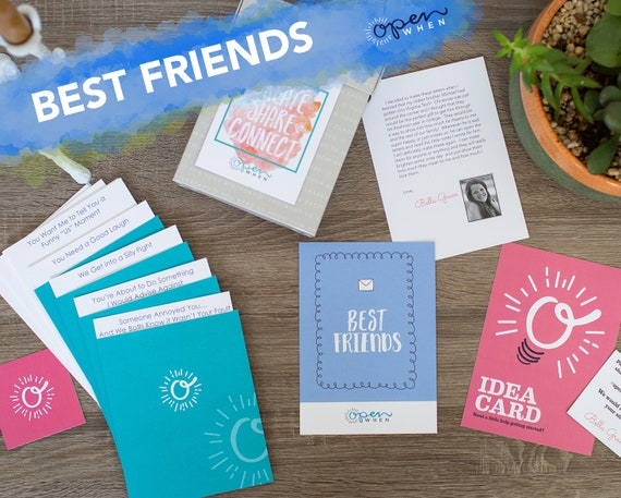 Best friend open when letters unique gift for birthdays etsy
